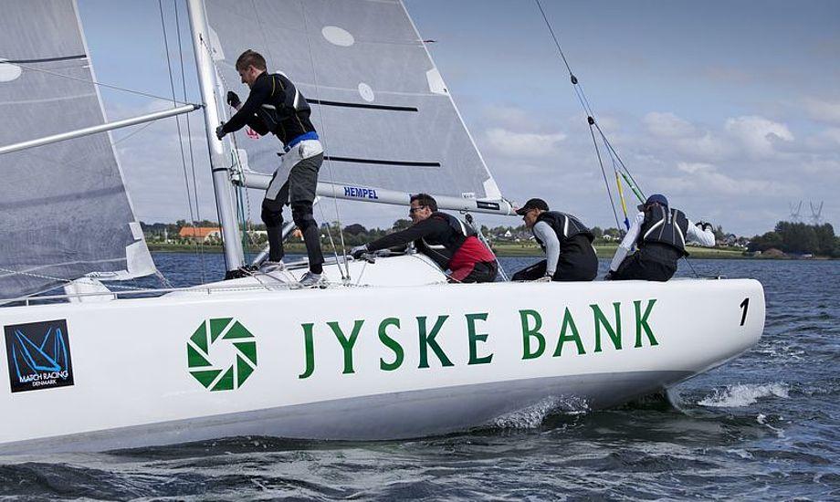 Team Viltoft med Michael Hestbæk som taktiker. Foto: Jes Anderson