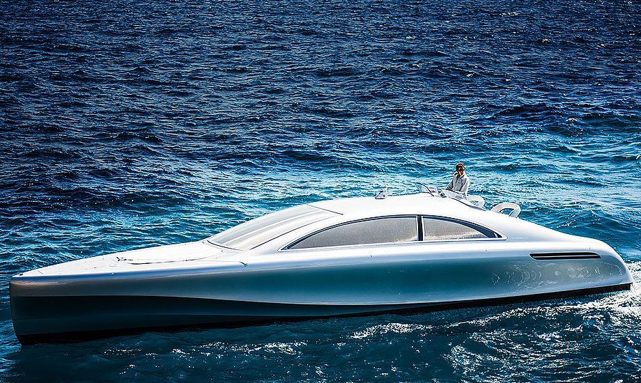 Der bliver kun bygget 10 eksemplarer af den nye yacht. Foto: Mercedes-Benz