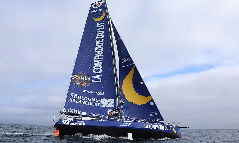 Stéphane Le Diraison sejler nu mod Australien om det er for nødrig eller motor ved vi endnu ikke. Foto: Vendee Globe