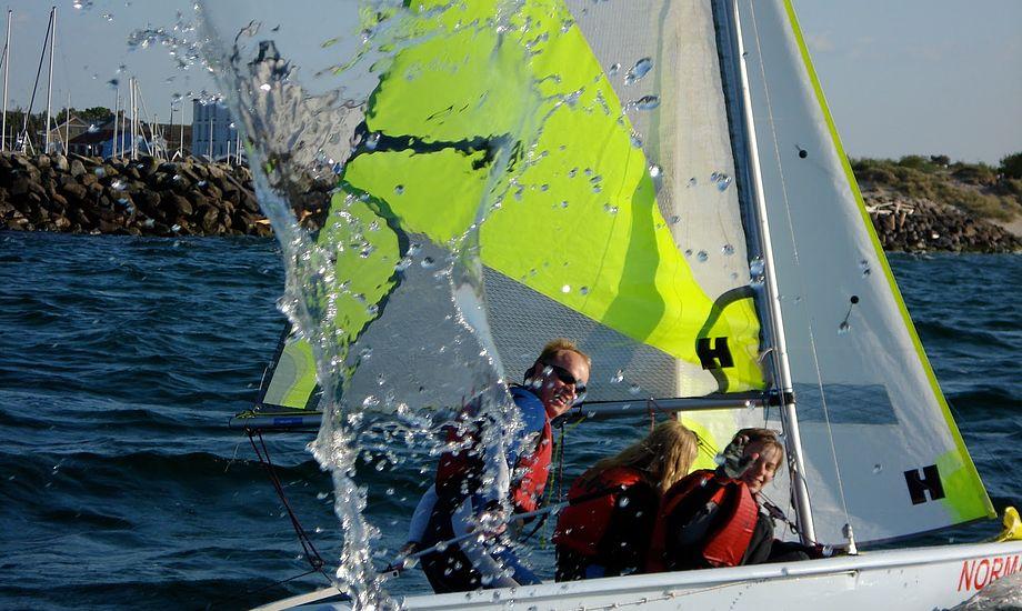 Feva-jolle ses nu mange steder i landets sejlklubber. Foto: hbkungdom.dk