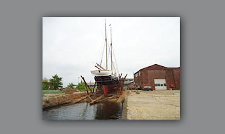Den ene af Holbæk gamle beddinger kan tage skibe op til 120 tons. Foto: maritimedanmark.dk