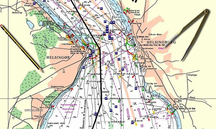Kort og Matrikelstyrelsens søkort er de officielle kort. Har du den mindste berøring med erhvervssejlads skal de bruges.