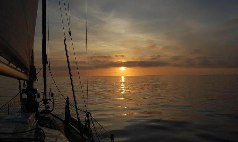 Ifølge Malene, er der en helt særlig stemning på ombord om natten, som hun holder meget af. Foto: Malene Wilken