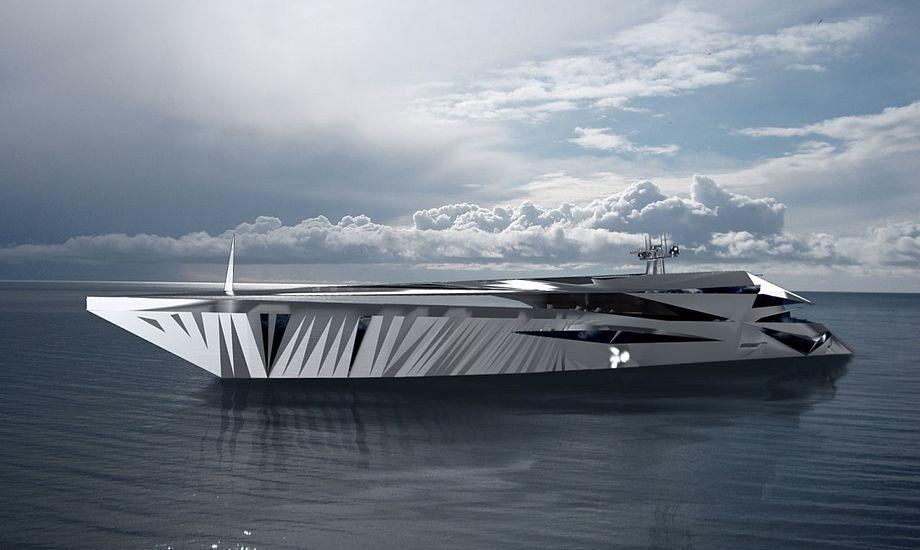 George Lucian har tegnet stregerne til den nye superyacht. Foto: George Lucian Art