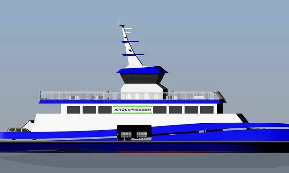 Sådan kommer hybridfærgen til at se ud. Foto: PR-foto