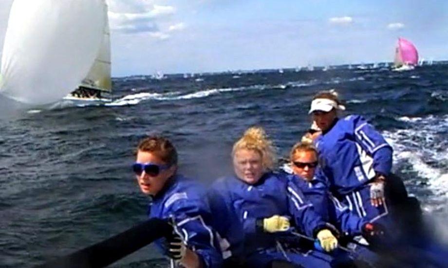 Seje danske kvinder fra Kielerugen på Melges 24.