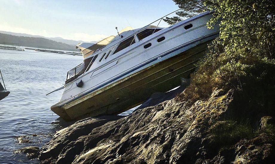 Sejlerne har tydeligvis ikke holdt behørigt udkig under sejladsen. Foto: Politiet