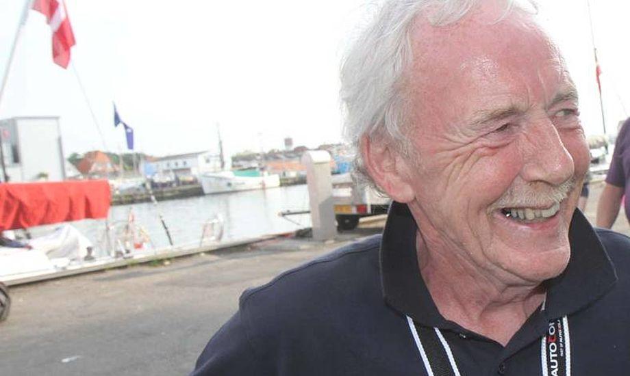 Ole Gorm Larsen var stævneleder i fire år i et af landets mest populære storbåds-stævner i nyere tid i Danmark. - Stævnet var et hjertebarn for ham, selvom han var Folkebåds-sejler, siger Jørgen Holm til minbaad.dk Foto: Troels Lykke
