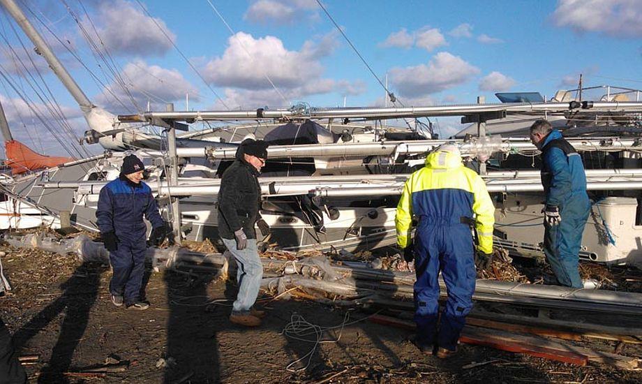 En masse frivillige brugte weekenden til at rydde op på Gilleleje Havn. Foto: Annette Fentz