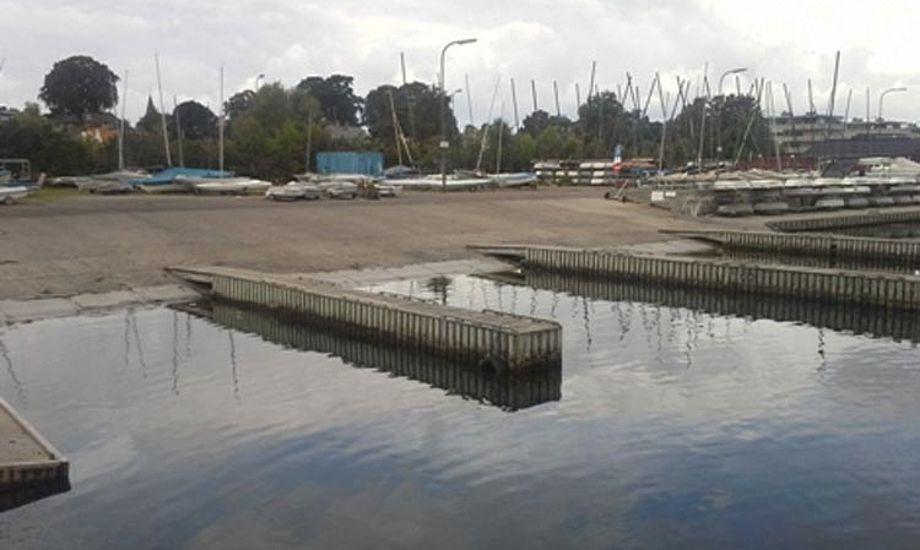 Den gamle jollerampe på Skovshoved Havn var måske ikke køn, men den virkede. Foto: Gentofte havne