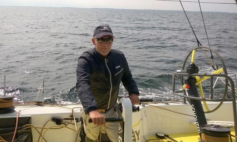 Efter et 15-timers kryds er Brunel nu på halvvind. Troels var med til at grinde. Foto: Volvo Ocean 65 Brunel