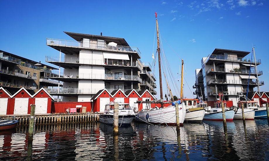 Der var masser af plads i Nyborg Marina, da minbaad.dk lagde til i juli måned. Foto: Troels Lykke