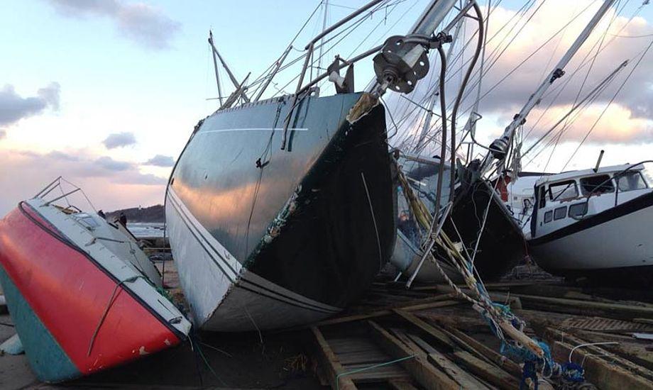 """Gilleleje havn blev hårdt ramt af """"Bodil"""" og må selv betale. Arkivfoto"""