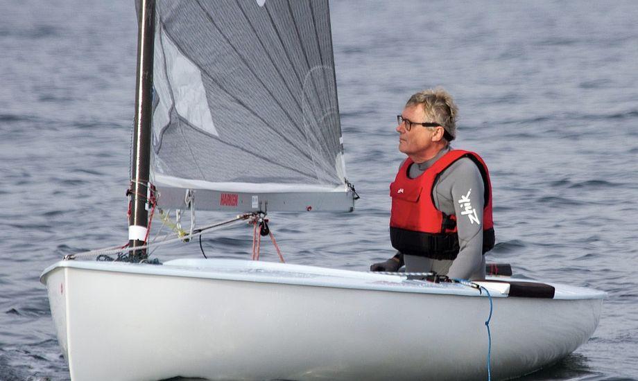 Tom Vestergaard håber at få mere tid på vandet i denne sæson. Foto: Dansk Finnjolle Klub