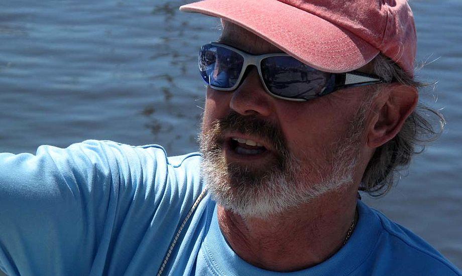Frank Berg sejlede VM i sin glasfiber-Drage og tog VM-bronze. Foto: Troels Lykke