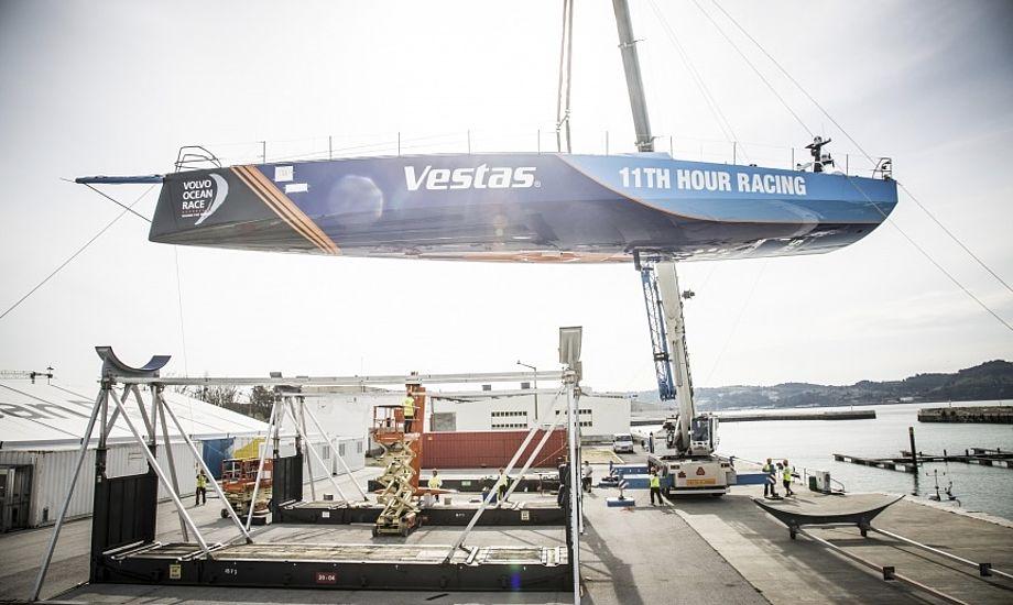 Danske Jena Mai Hansen, der netop har vundet VM-guld i 49erFX, vil være ombord på den dansk-amerikanske Vestas-båd. Foto: Amalia Infante / Volvo Ocean Race