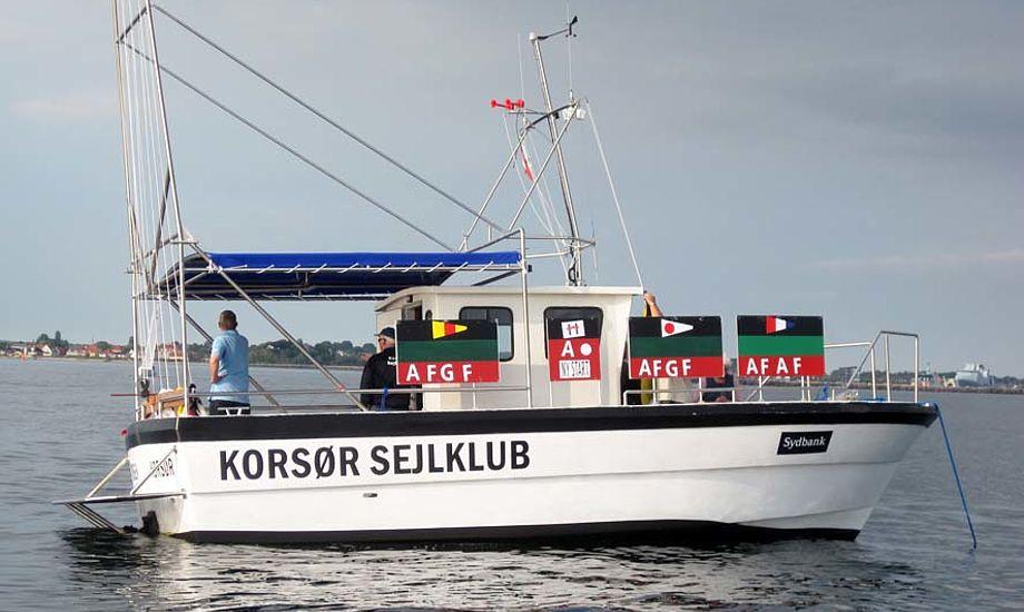 Sådan ser den nye dommerbåd ud i Korsør.