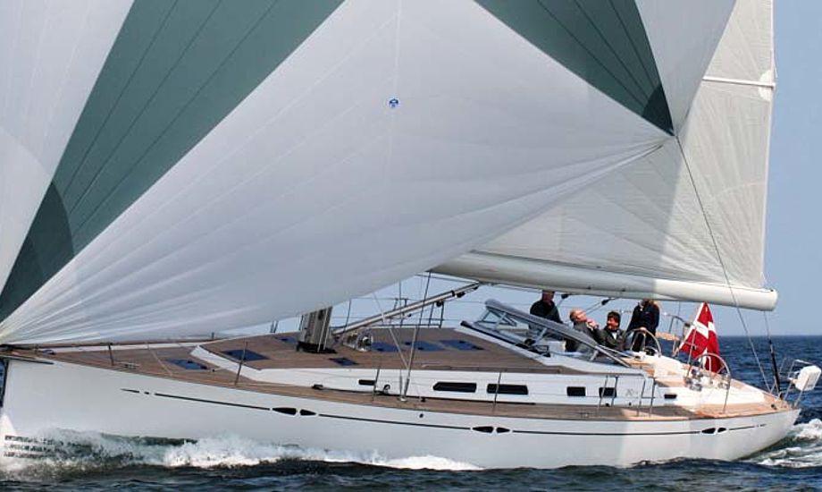 Fuld fart med en 17 ton båd med sejl fra North Sails. Foto: Jeppesen junior