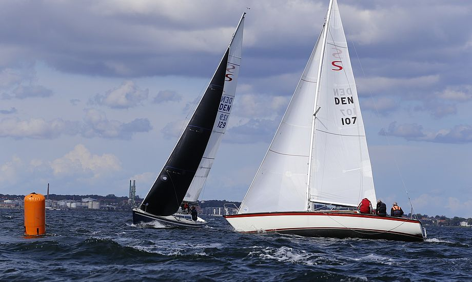 Scan-Kap 99erne blev kraftigt udfordret af hårdt vejr.  Foto: Morten og Frank, Nyborg Sejlforening