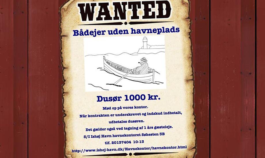 Vælger du at lægge dig i Ishøj Havn får du 1000 kr i dusør.