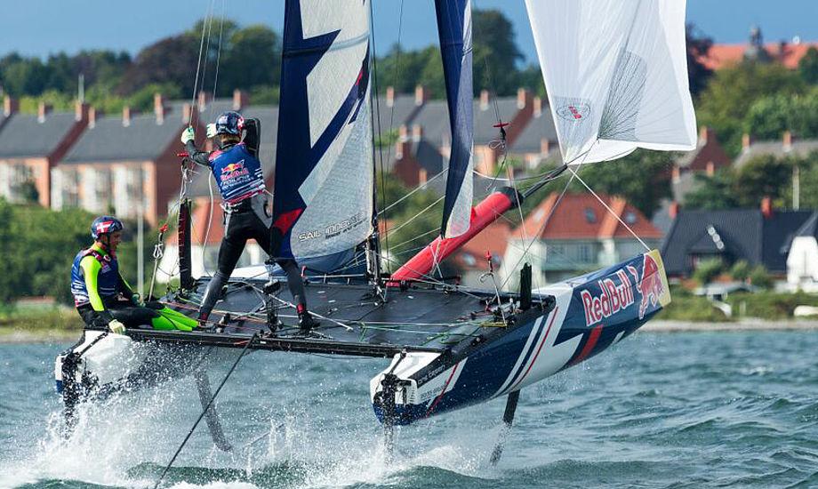 Carl Emil Baad Nielsen og Jakob Precht Jensen i god stil. Holdet tog 3. plads. Foto: Foto: Esben Zøllner/Red Bull