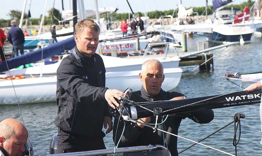 Rasmus Køstner og Jann Neergaard på SAP Extreme 40 i Bogense. Foto: Troels Lykke