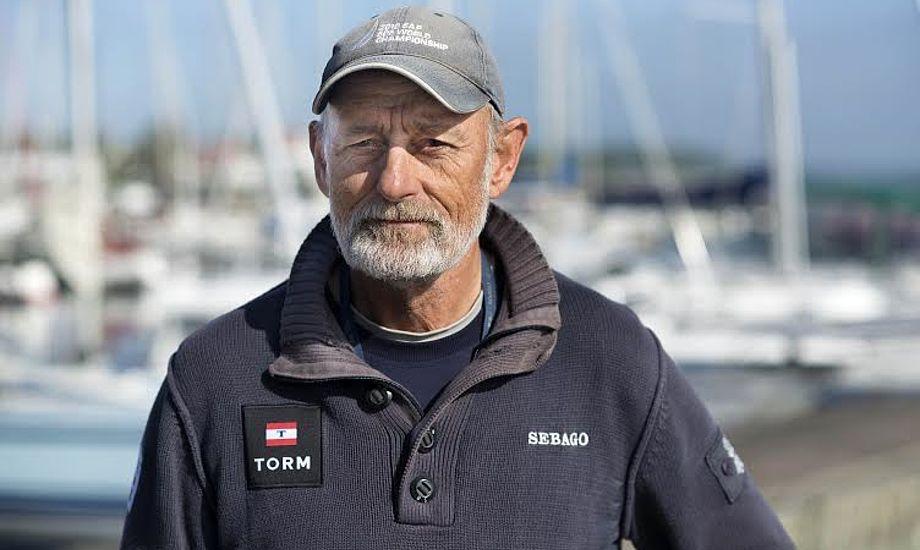 Finn 'Beton' Jensen har sejlet en del 505-jolle på højt plan, og i de senere år har vi set ham i en OK-jolle. Foto: Flemming Ø. Pedersen/Dansk Sejlunion