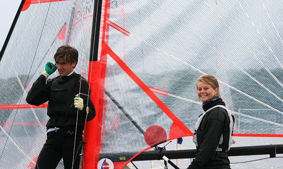 U-EM vindere Katja Salskov-Iversen og Christian Christfort Gormsen. Foto: Yachtklubben Furesøen