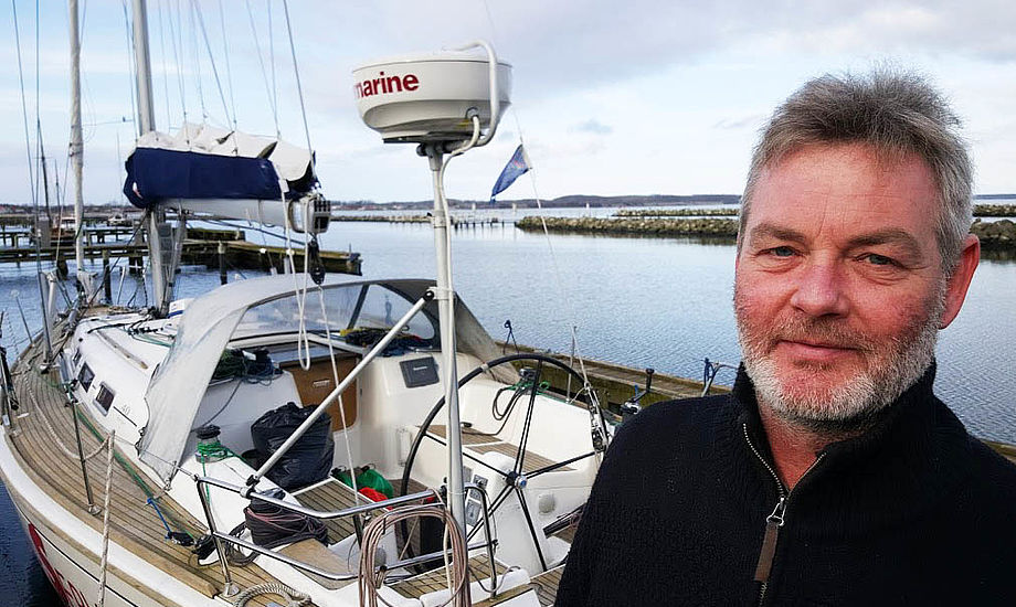 Allan Røhr har arbejdet mange år i bådbranchen og har før solgt Beneteau-både i Ishøj blandt andet. Nu fikser han både på havnen i Kerteminde. Foto: Troels Lykke