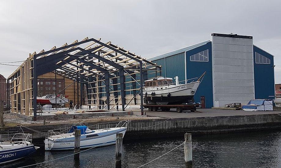 Værftet i Aalborg har en del at arbejde med og udvider nu. Foto: Troels Lykke