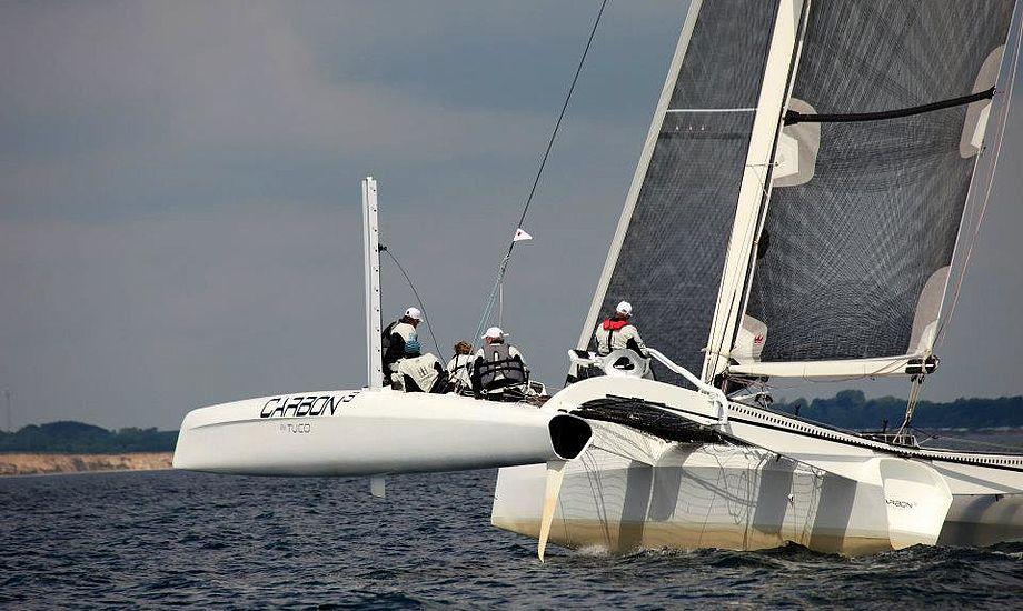 Om bord i Kiel var William Friis Møller, Jonas Pedersen, Frank Kirkegaard, Erik Fruergaard og Jacob Groth. Foto: Carbon3