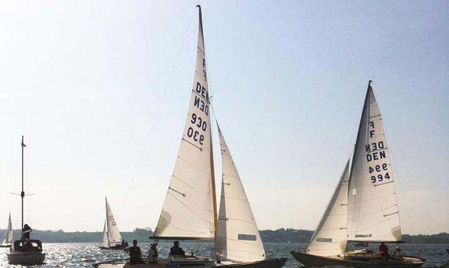 Sejlads i Kolding, hvor 18 både deltog.