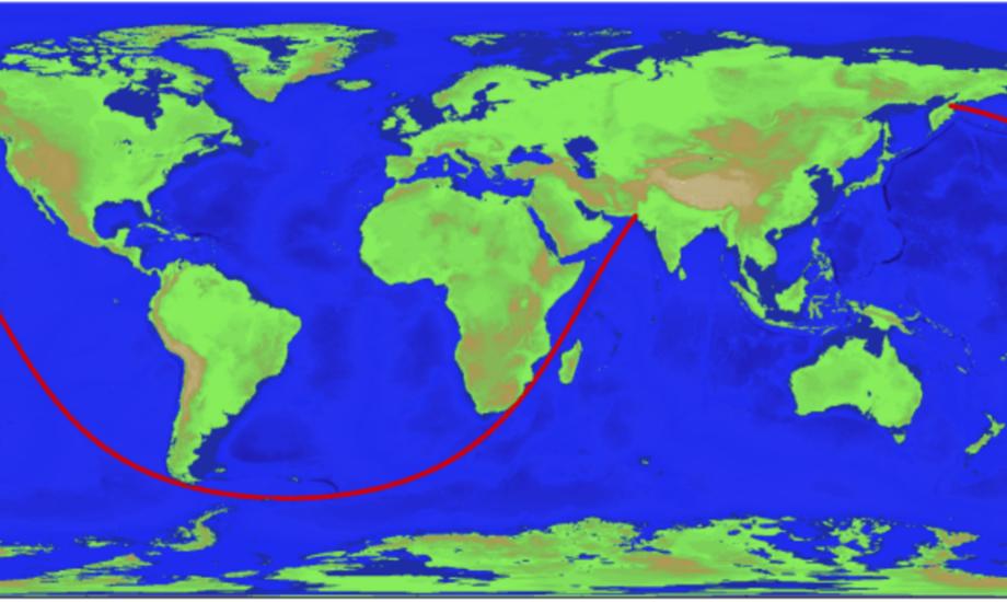 Linjen går næste Jorden rundt. Foto: Malene Wilken