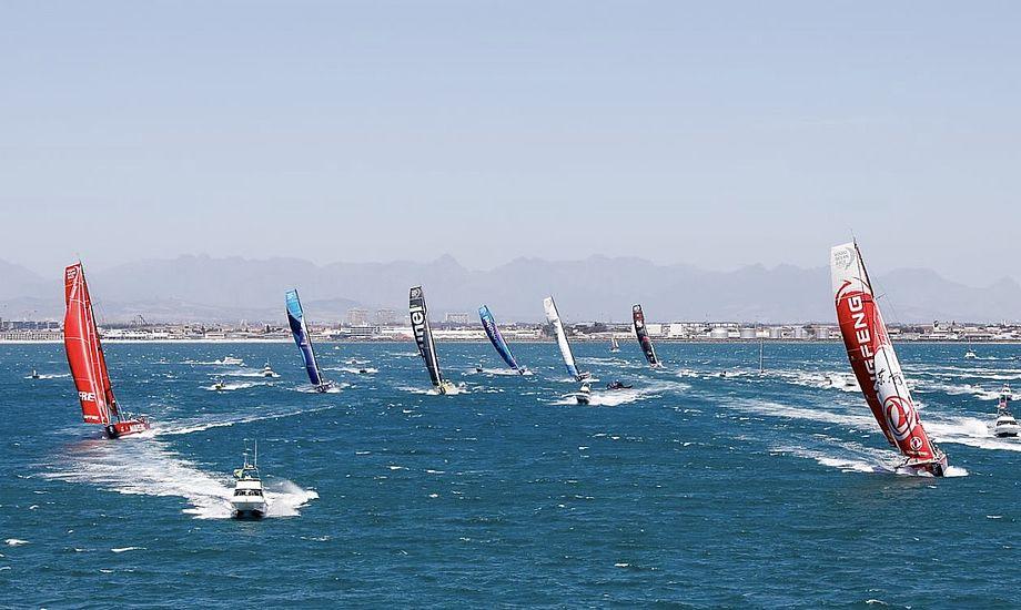 Syv både tager del i dette års Volvo Ocean Race. Foto: Volvo Ocean Race