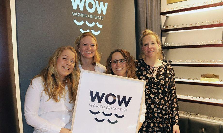 WOW bliver navnet på det nye kvindenetværk. Fra venstre: Nynne Ammundsen (Sejlsportsligaen), Line Markert (DS-formand) og de to WOW-skabere, Henriette Koch og Josefine Boel Rasmussen. Foto: PR-foto