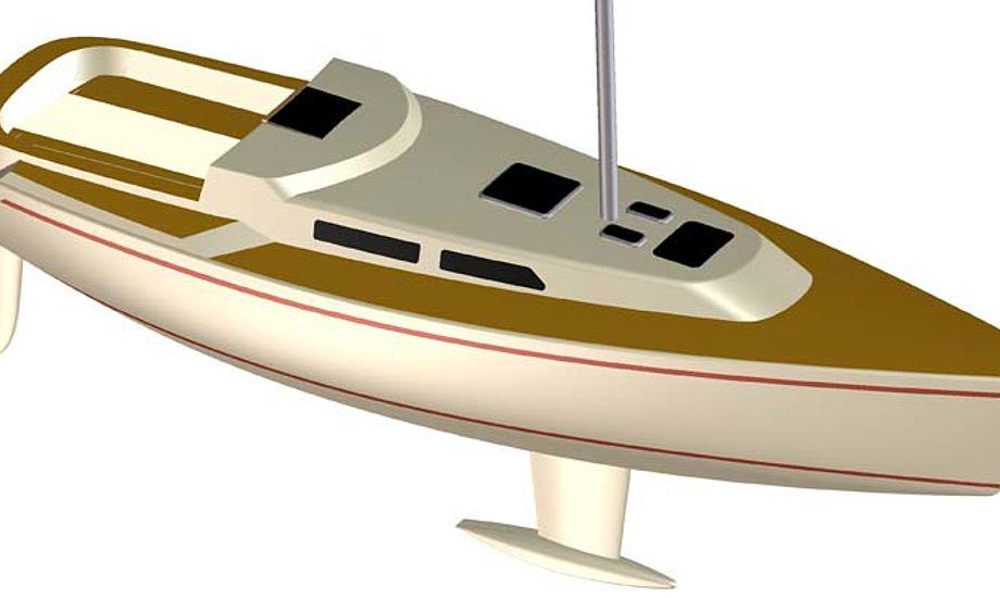 325'eren får T-køl og ror, som Faurby Yacht udviklede til 'Jesper Bank Edition'.