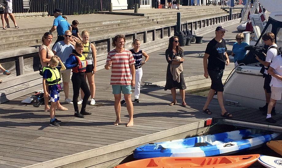 Theis Erichsen ses her til åbningen af Havnens Dag i Greve. Foto: Vild Med Vand
