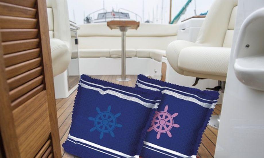 Affugteren kommer i et stilfuldt, maritimt design. Foto: PR-foto