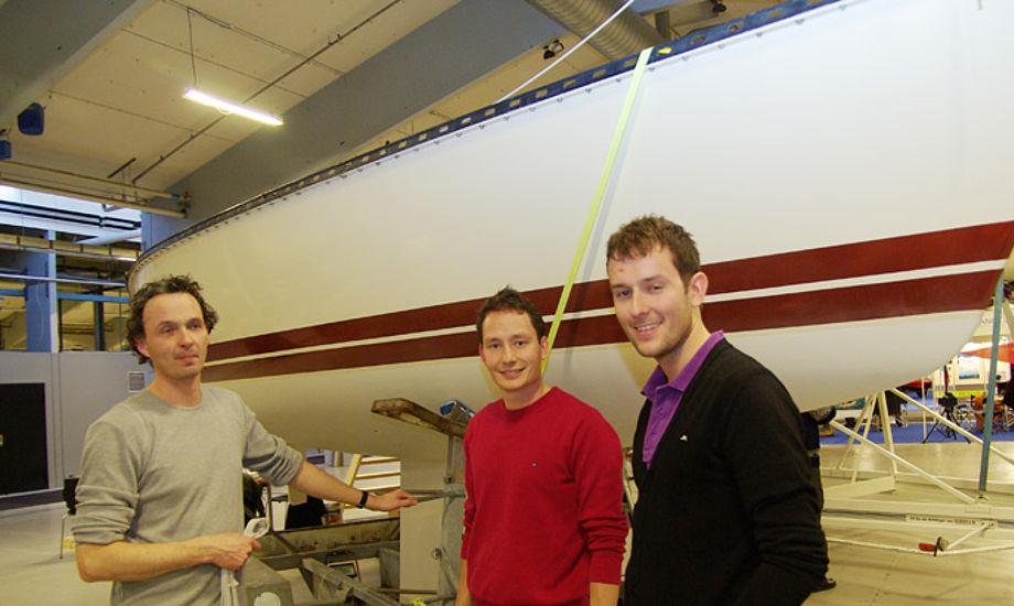 X-79er formand Christian Tofft, tv, med andre X-79-sejlere fra Øresund. Foto: Troels Lykke