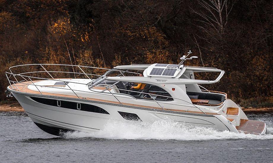 Marex 360 Cabriolet Cruiser med 1xD6-400 Volvo Penta motor, koster inklusiv standardudstyr 2.628.000 kroner inklusiv 25% moms. PR-foto