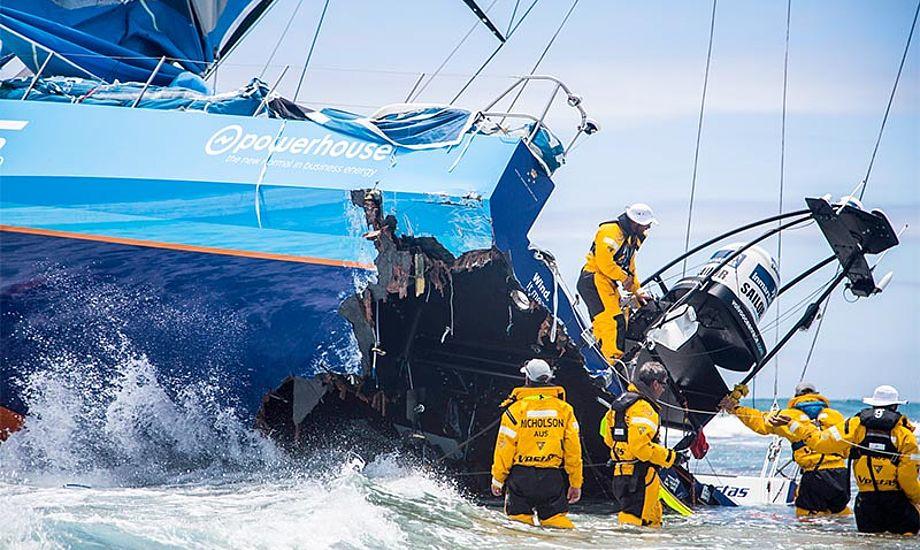 Tilsyneladende anede besætningen på Team Vestas Wind ikke hvor de var. Foto: Team Vestas Wind