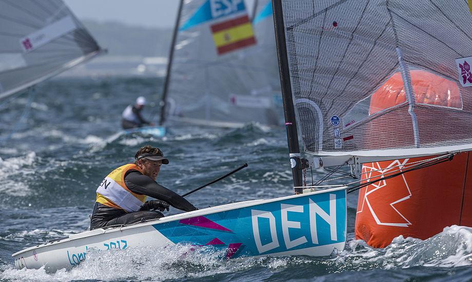 Jonas Høgh og partneren runder her under OL i London i 2012, hvor parret opnåede sit bedste resultat med en OL-sølvmedalje. Arkivfoto
