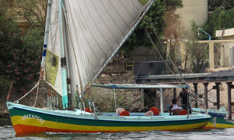 Nilens specielle sejlbåde er brede og ser sødygtige, men langsomme ud. Foto: Troels Lykke