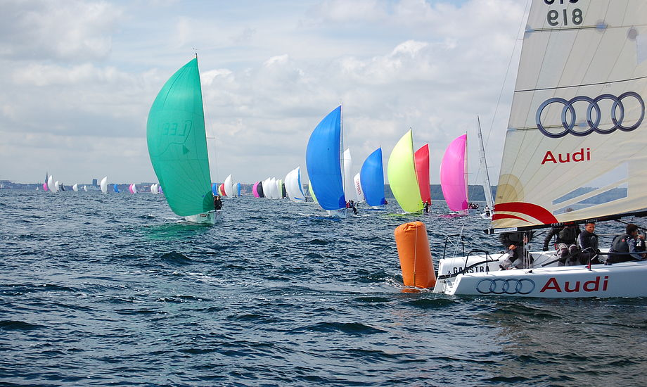 Tidligere på året blev der sejlet Melges 24 EM på Århus bugten