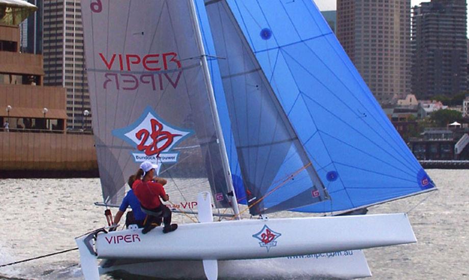 Viper er en af flerskrogsbådene, der stiller op til testsejladserne. Foto: Australian High Performance Catamarans (AHPC)
