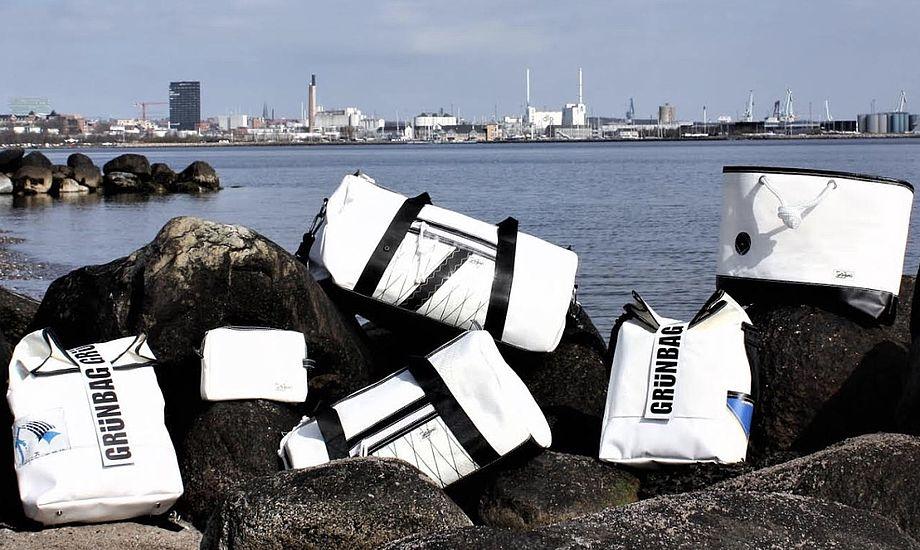 I alt seks forskellige tasker fås i grünBAG's nye kollektion. Foto: PR-foto