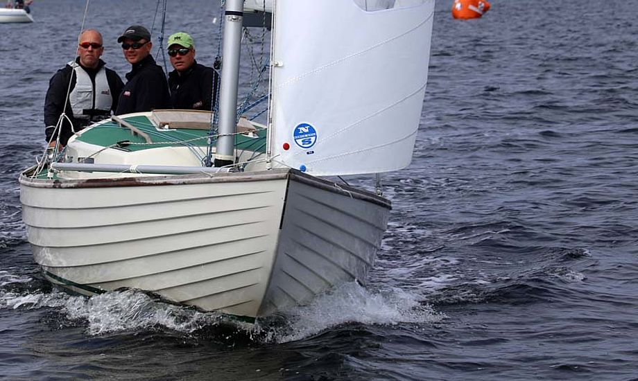Den danske mester Christian Thomsen fra Kolding stiller op i Berlin i lånt båd. Foto: Troels Lykke