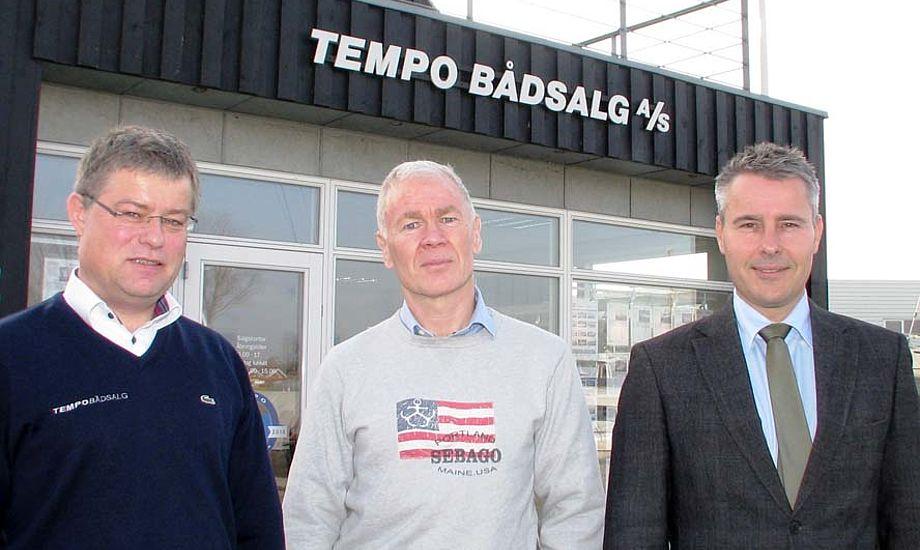 Fra venstre: Henrik Jørgensen, Jan Hansen og Henrik Sass Larsen i Ishøj.
