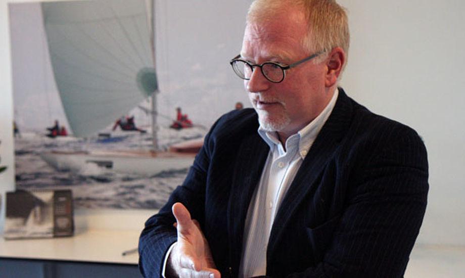 """Morten Lorenzen i Tuborg Havn: """"Det tager kun tre timer til Bornholm."""" Foto: Troels Lykke"""