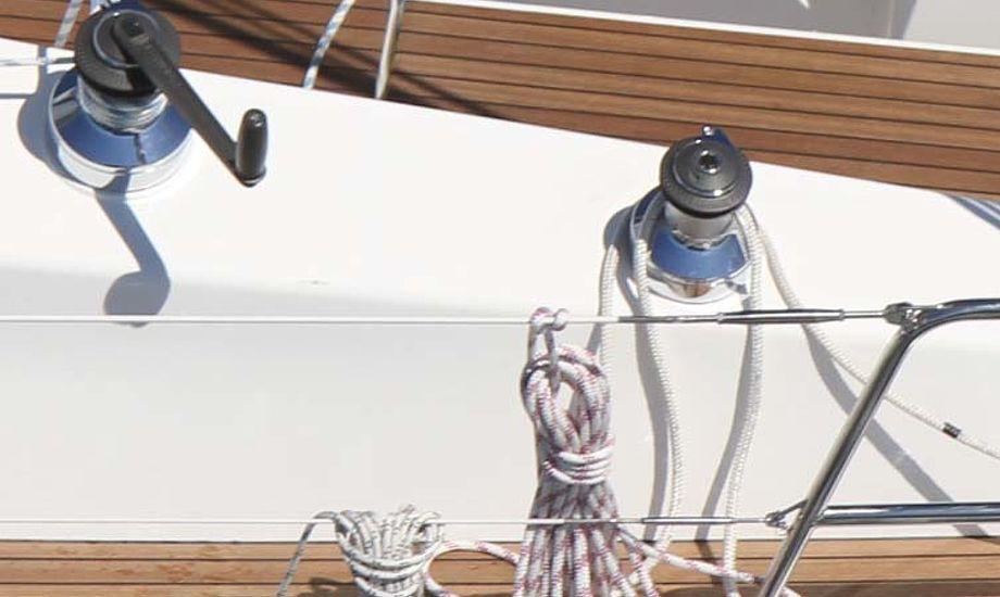 Her ses to spil på en Bavaria 36 Cruiser. Foto: Troels Lykke